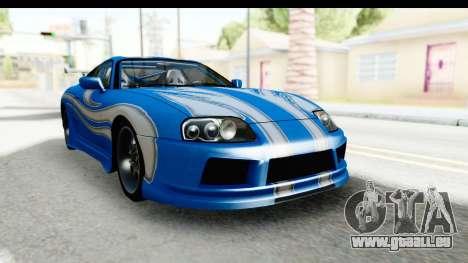 NFS: Carbon Darius Toyota Supra Updated pour GTA San Andreas vue de droite