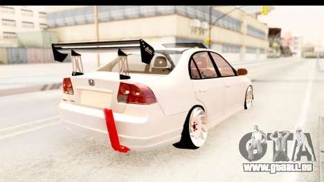 Honda Civic Vtec 2 Berkay Aksoy Tuning pour GTA San Andreas laissé vue