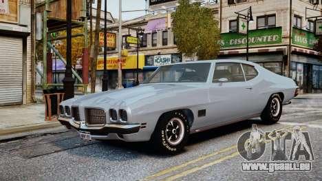 Pontiac LeMans Coupe 1971 pour GTA 4 est un côté