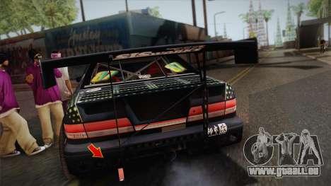 D1GP Toyota Mark II Sunoco Monster pour GTA San Andreas vue arrière