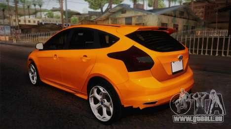 Ford Focus 2012 pour GTA San Andreas laissé vue