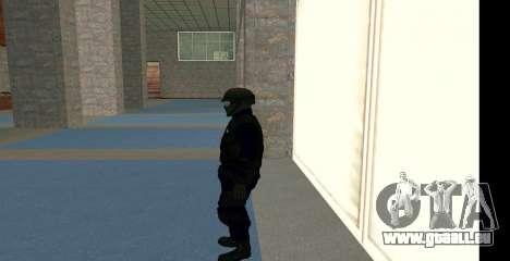 GTA 5 FIB SWAT Blue für GTA San Andreas dritten Screenshot
