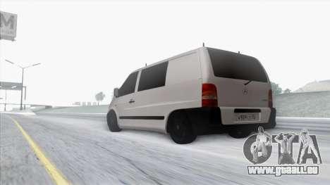 Mercedes-Benz Vito pour GTA San Andreas vue de dessus