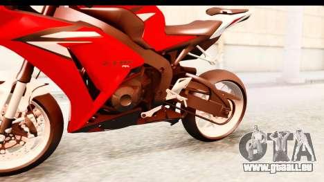 Honda CBR1000RR 2012 pour GTA San Andreas vue intérieure