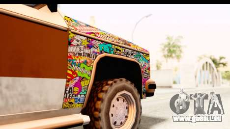 Rancher Sticker Bomb pour GTA San Andreas vue arrière