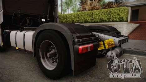 Mercedes-Benz Actros Mp4 4x2 v2.0 Steamspace v2 pour GTA San Andreas vue de droite