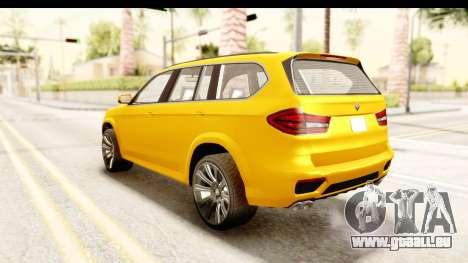 GTA 5 Benefactor XLS IVF pour GTA San Andreas sur la vue arrière gauche