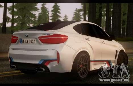 BMW X6M PML ED pour GTA San Andreas laissé vue