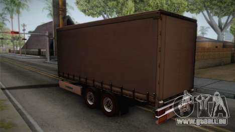 Mercedes-Benz Actros Mp4 v2.0 Tandem Trailer für GTA San Andreas linke Ansicht