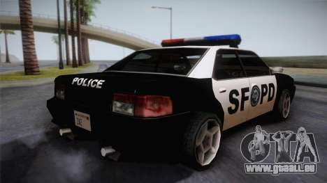 Sultan SFPD für GTA San Andreas linke Ansicht
