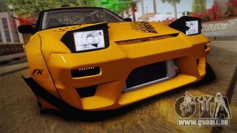 Nissan 180SX Rocket Bunny pour GTA San Andreas sur la vue arrière gauche
