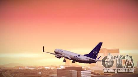 Boeing 737-800 Korean Air Skyteam für GTA San Andreas linke Ansicht