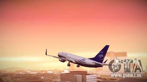 Boeing 737-800 Korean Air Skyteam pour GTA San Andreas laissé vue