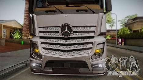 Mercedes-Benz Actros Mp4 4x2 v2.0 Steamspace v2 pour GTA San Andreas vue arrière