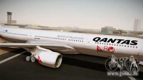 Airbus A330-300 Qantas 80 Years pour GTA San Andreas sur la vue arrière gauche