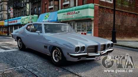 Pontiac LeMans Coupe 1971 pour GTA 4 est une vue de l'intérieur