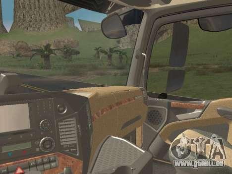 Mercedes-Benz Actros Mp4 4x2 v2.0 Steamspace v2 für GTA San Andreas obere Ansicht