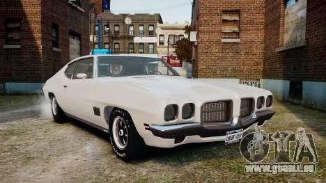Pontiac LeMans Coupe 1971 pour GTA 4 est une gauche