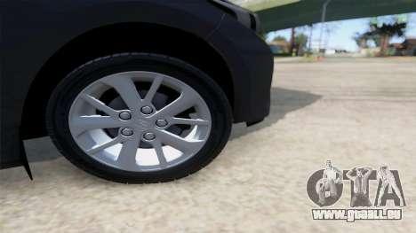 Toyota Corolla 2014 HQLM pour GTA San Andreas vue de droite