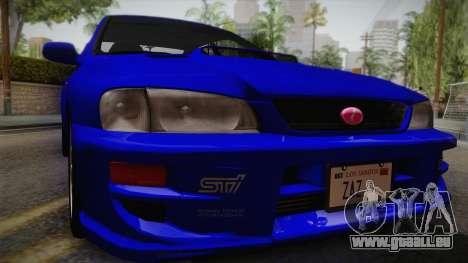 Subaru Impreza WRX STI GC8 1999 v1.0 pour GTA San Andreas vue de droite