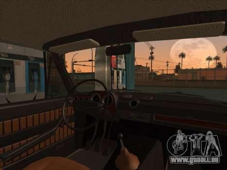 VAZ 2103 Resto pour GTA San Andreas sur la vue arrière gauche