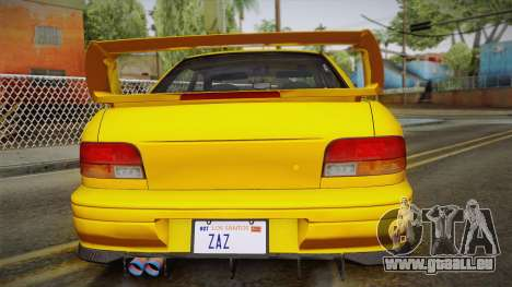Subaru Impreza WRX STI GC8 1999 v1.0 pour GTA San Andreas vue de dessous
