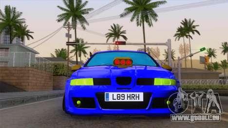 Seat Leon Haur Edition pour GTA San Andreas vue arrière