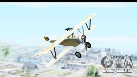 Nieuport 11 Bebe - Nr.865 Romania pour GTA San Andreas sur la vue arrière gauche