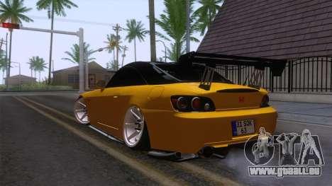 Honda S2000 pour GTA San Andreas sur la vue arrière gauche