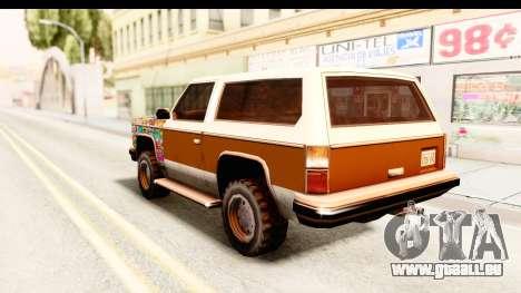 Rancher Sticker Bomb pour GTA San Andreas laissé vue