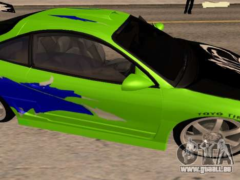 Mitsubishi Eclipse The Fast and the Furious pour GTA San Andreas vue de droite