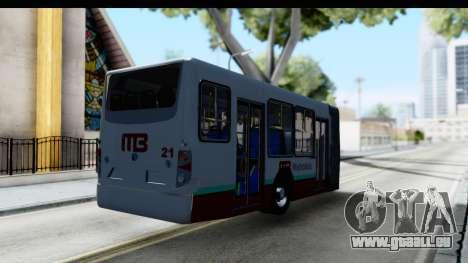 Metrobus de la Ciudad de Mexico Trailer pour GTA San Andreas sur la vue arrière gauche