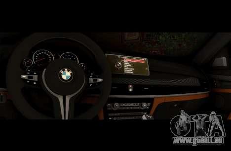 BMW X6M BULKIN ED. pour GTA San Andreas vue intérieure