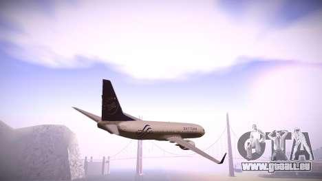 Boeing 737-800 Korean Air Skyteam für GTA San Andreas zurück linke Ansicht