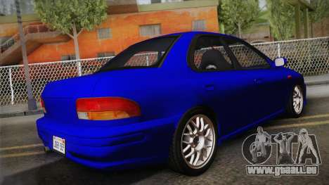 Subaru Impreza WRX STI GC8 1999 v1.0 pour GTA San Andreas laissé vue