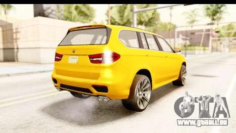 GTA 5 Benefactor XLS IVF pour GTA San Andreas laissé vue