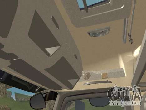 Mercedes-Benz Actros Mp4 4x2 v2.0 Gigaspace für GTA San Andreas Unteransicht