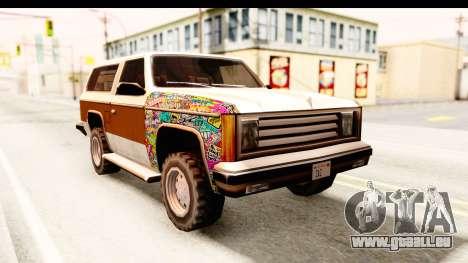 Rancher Sticker Bomb pour GTA San Andreas vue de droite