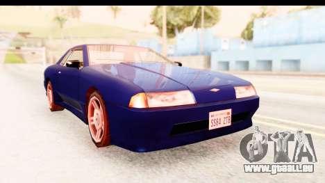 20egt Elegy pour GTA San Andreas sur la vue arrière gauche