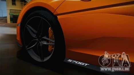 McLaren 570GT 2016 für GTA San Andreas Rückansicht