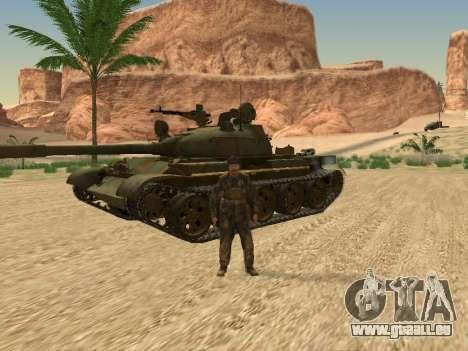 T-62 für GTA San Andreas Innenansicht