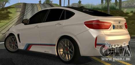 BMW X6M PML ED pour GTA San Andreas vue de droite