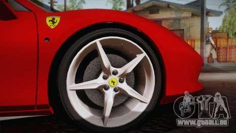 Ferrari 488 Spider für GTA San Andreas Rückansicht