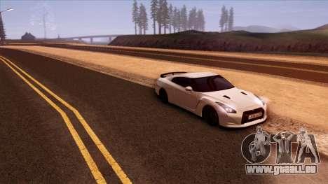 Nissan GT-R R35 für GTA San Andreas Seitenansicht