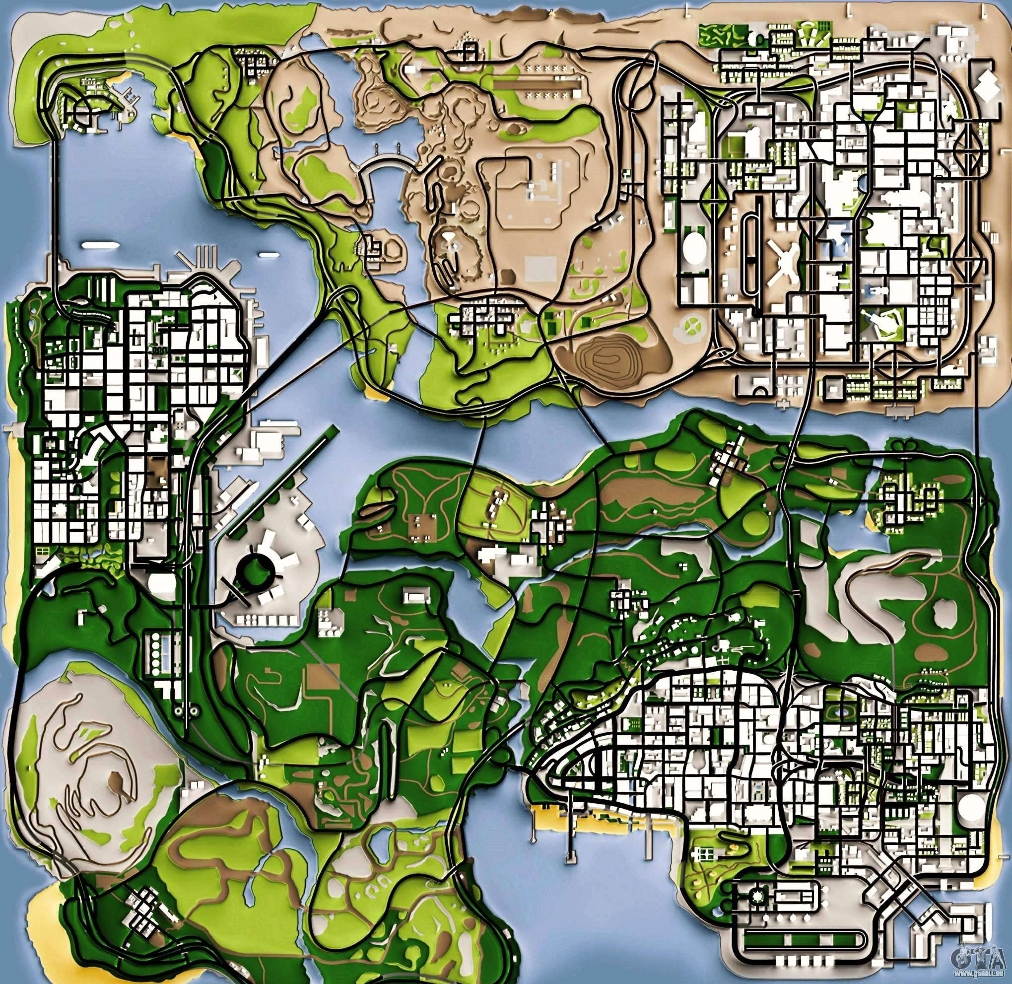 Gta San Andreas Karte.Remaster Map Full Version Für Gta San Andreas
