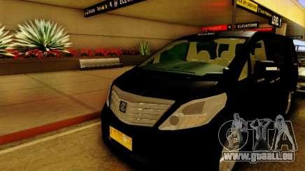 Toyota Alphard Taxi Silver Bird pour GTA San Andreas
