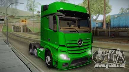 Mercedes-Benz Actros Mp4 6x2 v2.0 Gigaspace v2 pour GTA San Andreas