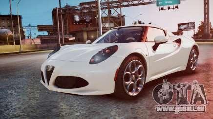 Alfa Romeo 4C 2016 pour GTA 4