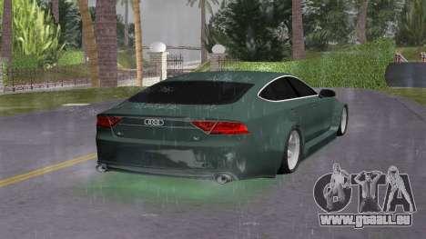 Audi A7 Sportback pour GTA Vice City sur la vue arrière gauche