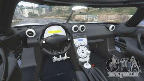 Koenigsegg CCX 2006 [Autovista] [replace] pour GTA 5